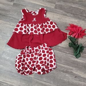 Toddler girl Alabama outfit